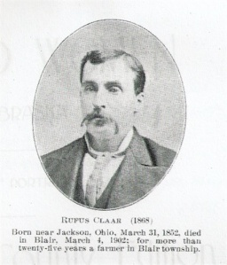 "Rufus was actually born in 1848, not 1858. This was taken from the book: ""Men and Women of Nebraska -- A Book of Portraits"", the Washington County edition."