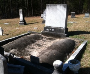I'm at a loss as to why they were buried this way.