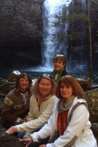 Sarah, Megan, Beverly and I after our hike to the bottom of Cloudland Canyon.