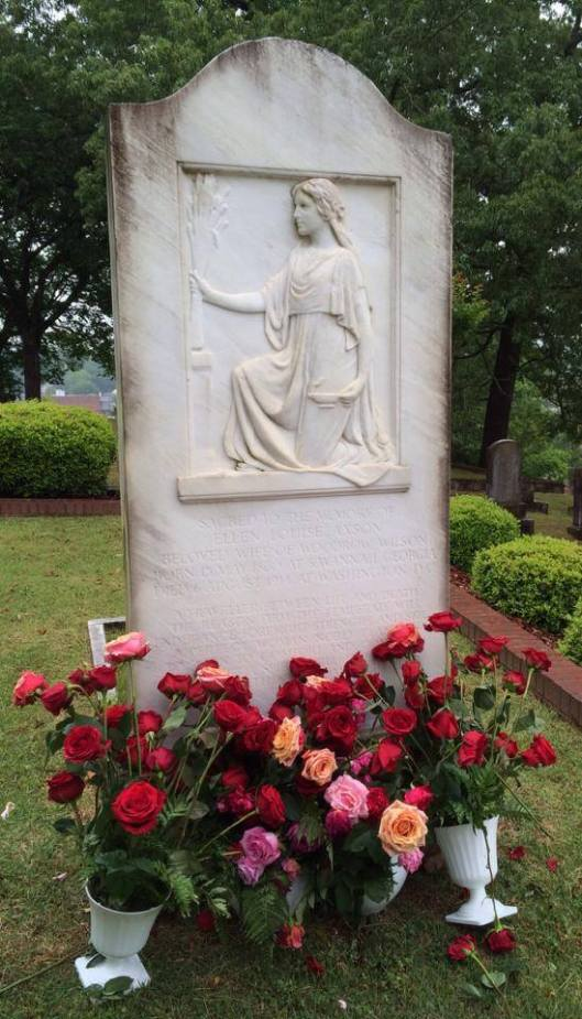 Ellen Axson Wilson is buried in Myrtle Hill Cemetery in Rome, Ga. I was finally able to visit her grave many months after I originally wrote this post.