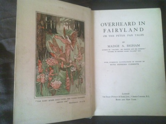 Overheard in Fairyland was one of Madge Bigham's many popular children's books.