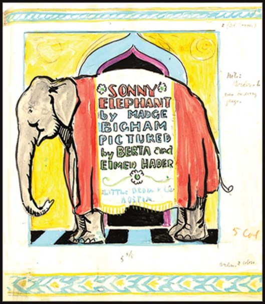 Sonny Elephant is a story about a baby elephant and his adventures. It was very popular with school children at the time and has been reprinted often.