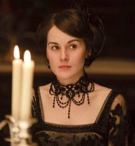"In the third season of PBS' popular ""Downton Abbey"", Lady Mary follows the dictates of society by wearing jet jewelry in her time of mourning."