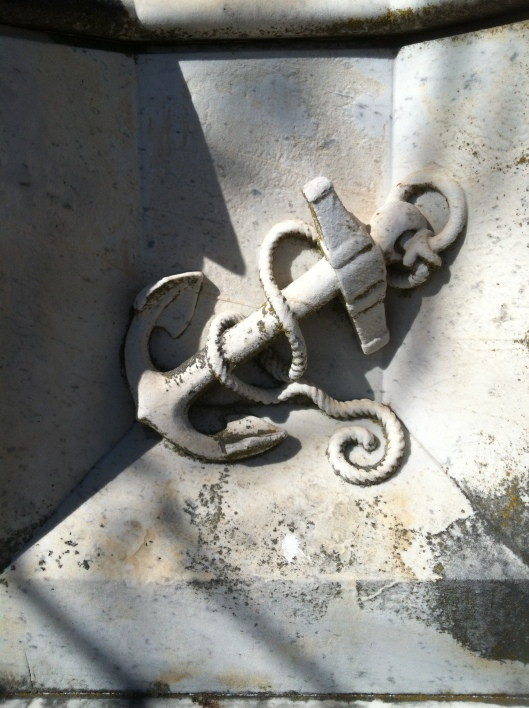 The detail in the carving of this anchor is amazing.
