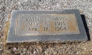 Ralph Davis' death was much more dramatic than his marker indicates.