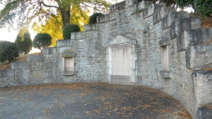 Westview's receiving tomb served as a storage area when weather conditions delayed burial.