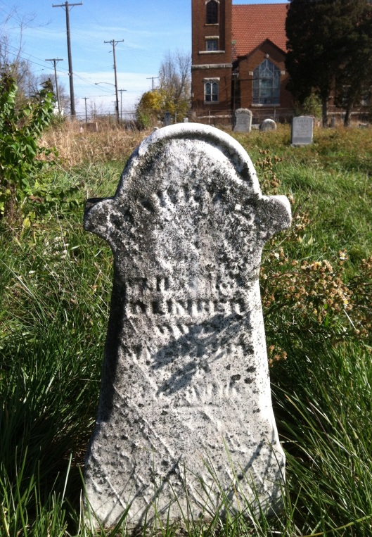 Maybe this is one of my Olinger ancestors. The stone is too worn to get much information.
