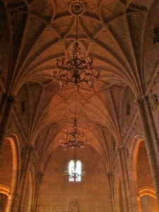Here's the ceiling of the abbey chapel. The lighting was bad so I had to enhance it a bit.