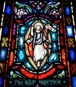 One of the 27 stained glass sections depicting the life of Christ. Each one is beautifully made.