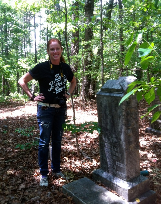 Sharon Smith Patterson and I reconnected among the graves of a small rural cemetery.