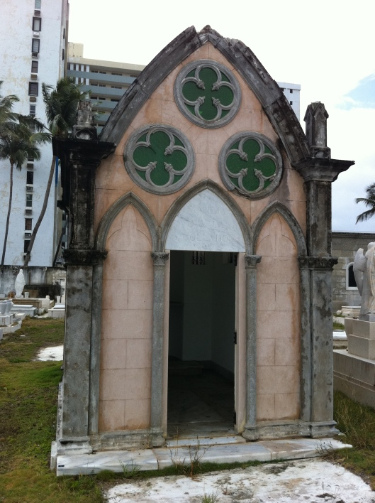 """This mausoleum is lacking a door, so it may have also been abandoned."""