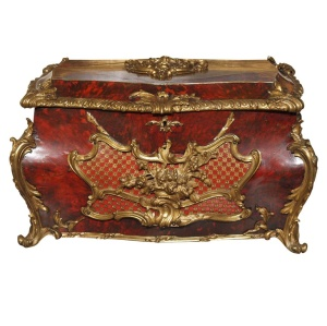 This 18th-century French jewel casket was for storing precious gems. Not dead bodies. Photo courtesy of Kevin Stone Antiques and Interiors.