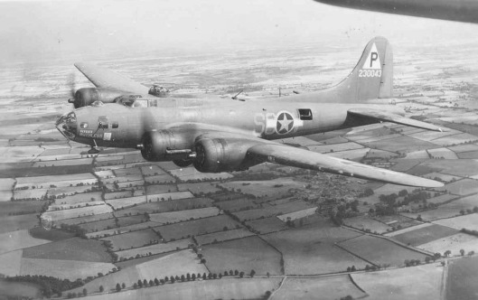 "This is the B17F bomber, more commonly known as the ""Flying Fortress"". Guyton had become adept at flying them."