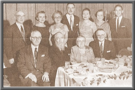 "Rabbi Geffen met Coca-Cola attorney Harold Hirsch at his daughter's high school graduation. Helen Geffen (back row, second from left) was later to play an important role in the ""kosherization"" of Coca-Cola. Photo courtesy of ourfamilystory/rabbigeffentestimonial.html."