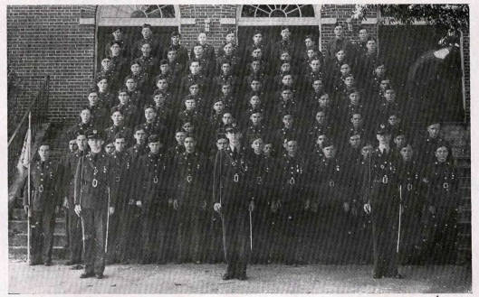 Company B of the Tech High School ROTC in 1943. The names are listed alphabetically so it is unknown which one of them is Richard Barge.