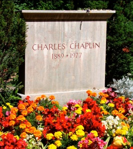 Charlie Chaplin's grave is located in Corsier, Switzerland.