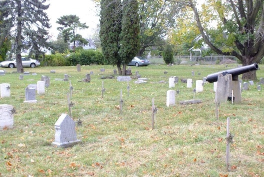 This area is mostly made up of Civil War Union veterans but there are also several civilians buried there as well. It looks amazing compared to what it was before. Photo courtesy of Sons of Confederation Union Veterans of the Civil War, Sherman Camp #93.