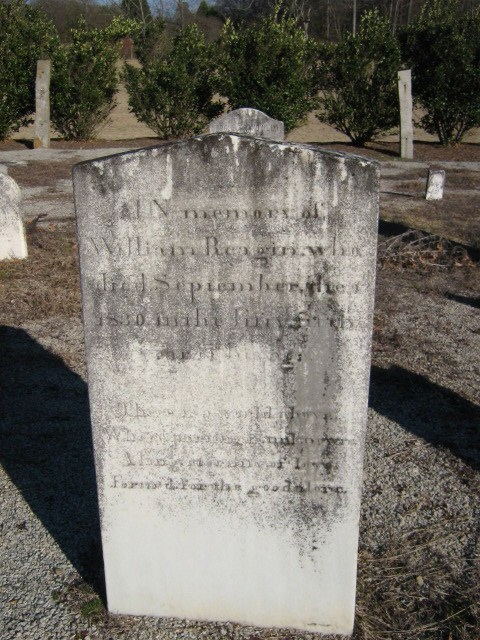 William Reagin owned a plantation in Newberry, S.C. He is buried in the Reagin Family Cemetery in Newberry. Photo courtesy of Donna Brummett.