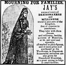 Providing the proper mourning attire became a full-blown industry during the Victorian era.