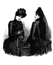 Examples of mourning fashion for widows.