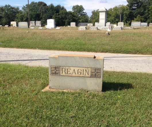 This is the Reagin monument I found at Lithonia City Cemetery. I feel strongly that although their graves were unmarked, Steve's grandfather and uncle are buried there. He agrees with me.