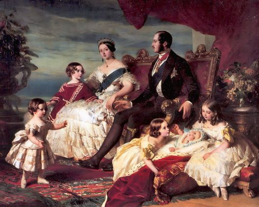Franz Xaver Winterhalter's painting of Queen Victoria and Prince Albert with their children. Photo courtesy of Wikimedia Commons.