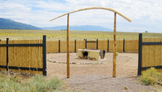 The funeral pyre at Crestone, Colo., believed to be the only legal site for outdoor cremation in the U.S. Photo courtesy of U.S. Funerals Online.