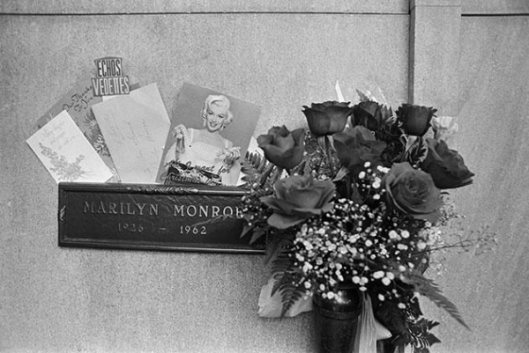 Marilyn Monroe is buried at Westwood Memorial Park in Hollywood, Ca. Last year marked the 50th anniversary of her death.