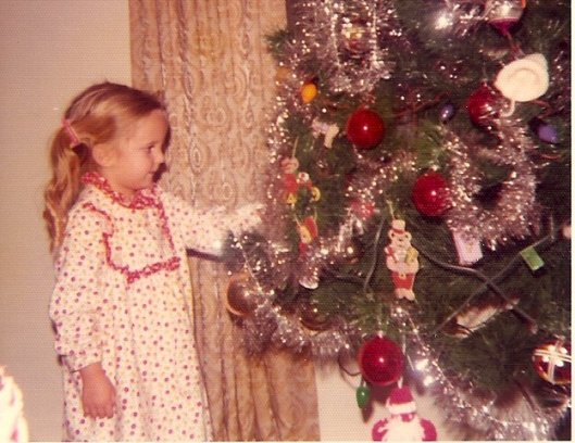 This is me with the fake tree (and the infamous stand) in 1973.
