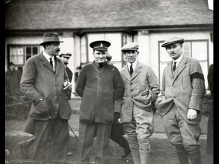 J. Edgar Douglas in 1915 (from left): Ted Ray, Edgar, fellow pro Ivo Whitten and British golf legend Harry Vardon.