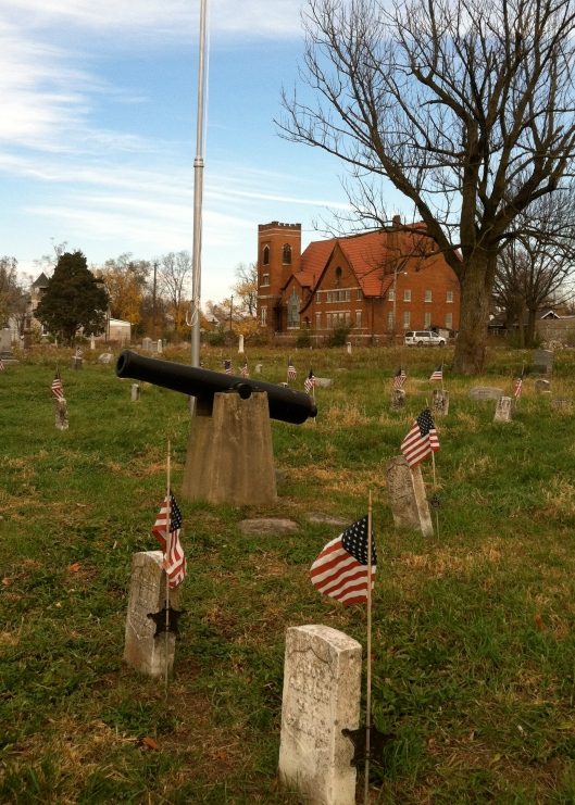 The section for Union soldiers who fought in the Civil War was the only area that looked like it got regular care in 2012.