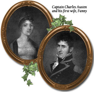 Author Jane Austen's brother, Charles, is pictured with his first wife, Fanny. She died in childbirth.