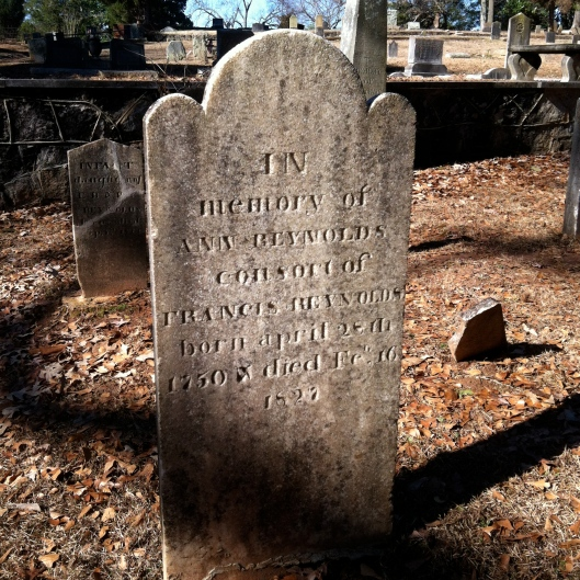 The grave of Anne Reynolds, who died in 1827, is one of the oldest at Decatur Cemetery.
