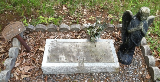 Joshua Stulick's grave is in Sharon Baptist Church Cemetery in Cumming, Ga.