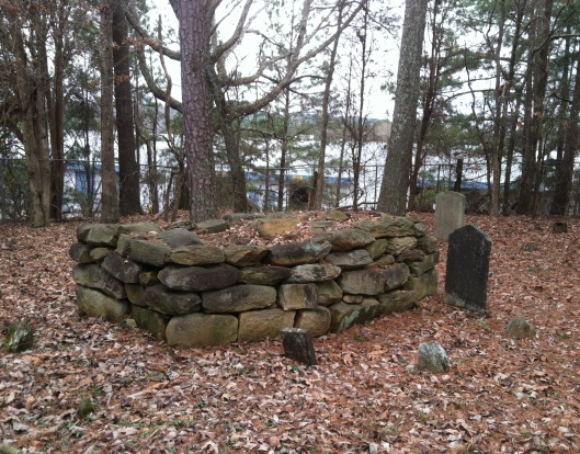 The identity of the person buried in this cairn grave is also unknown.