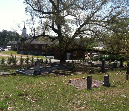 Sharon Baptist Church Cemetery is in Forsyth County, Ga. I didn't know I would end up solving a minor mystery when I photographed graves there.