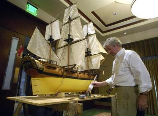 This is a replica of the ship the William and Sarah, which brought 42 Jews to Savannah from London. Photo courtesy of Hunter McRae/Savannah Morning News.