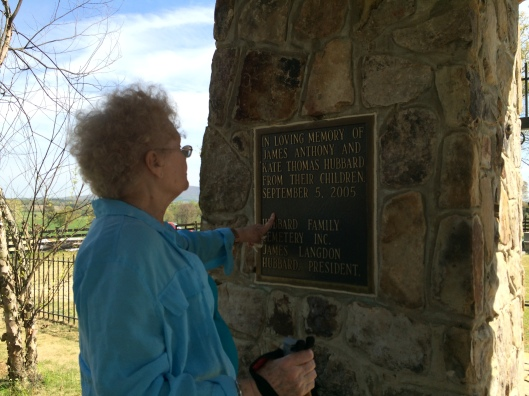 Nancy treasures her family's cemetery and is very pleased with the result of the work done to preserve it.