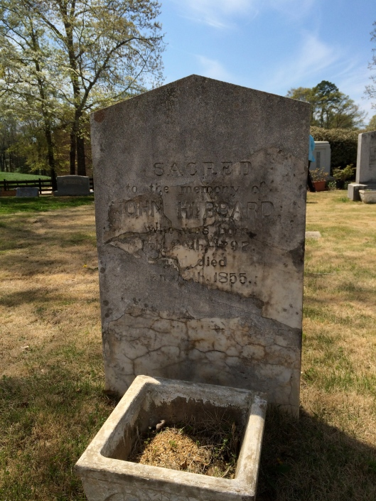John Hubbard's grave is one of the oldest in the cemetery and has been repaired several times over the years.