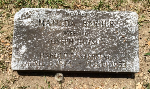 Matilda Barber's grave is not unusual. It simply lists her and that of her two husbands. But one died in a surprising way.