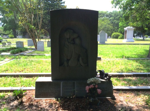 The memorial stone for Mackenzie Addison Gardner is stunning in its heartfelt simplicity. A girl with her beloved dog.
