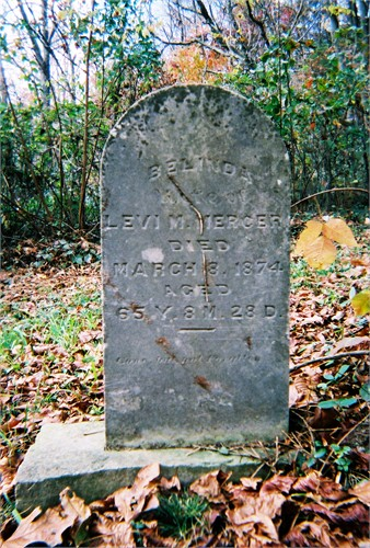 Levi's wife, Belinda, is buried in Glendale Cemetery in Scioto County, Ohio. She may have been living with her daughter, Mahala, when she died.