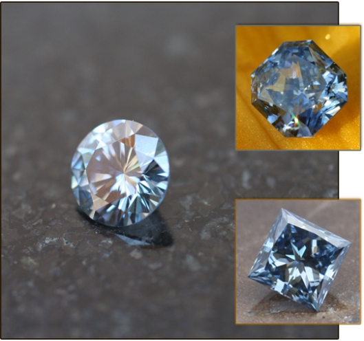 This is Blue LifeGem Diamond - Option IV (.50 - .59 ct). The base price is listed at $7,899.00 Photo courtesy of LifeGem.