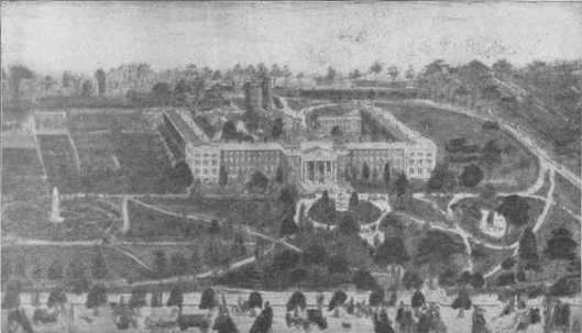 The first Ohio Lunatic Asylum in Columbus opened in 1838. It burned to the ground 30 years later.