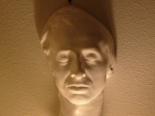 Chopin was only 39 when he died of tuberculosis. Chopin's death mask , courtesy of the Jack Gibbons Collection.