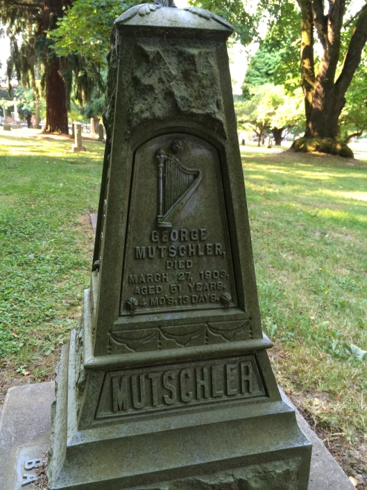 George Mutschler, a native of Germany, was a saloon keeper in Portland.