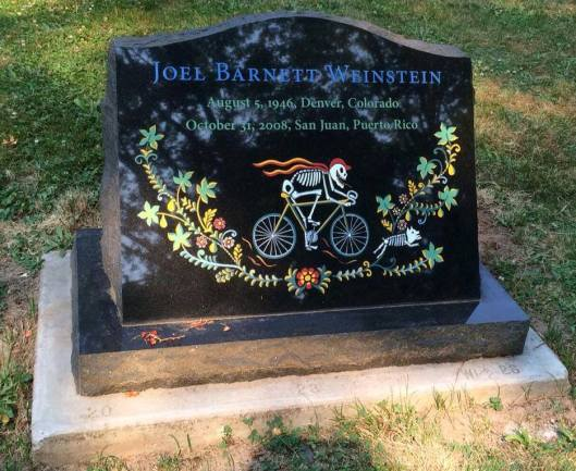 Joel Weinstein's gravestone was as unique as he was.