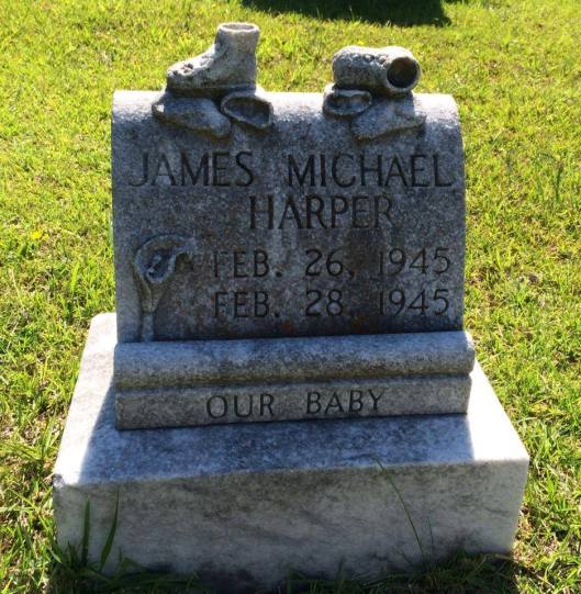 James Michael Harper only lived two days. Like Brenda Starr, the cause of his death remains a mystery.