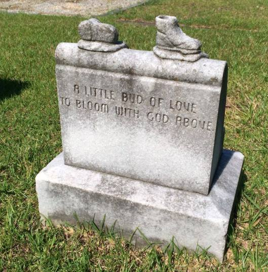 The inscription on the back makes this little boy's death all the more poignant.