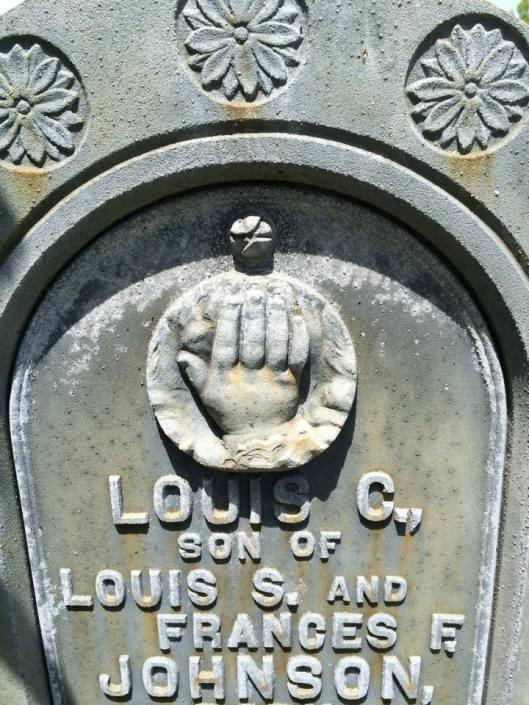 The small hand of Louis C. Johnson.
